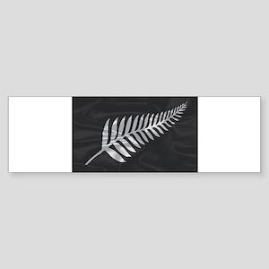 Silk Flag Of New Zealand Silver Fer Bumper Sticker