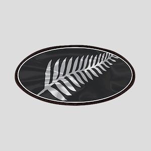 Silk Flag Of New Zealand Silver Fern Patch