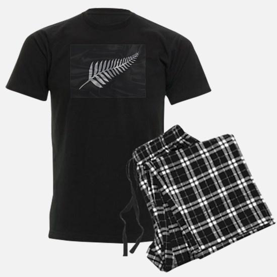 Silk Flag Of New Zealand Silve Pajamas