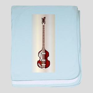 Violin Style Bass Guitar baby blanket