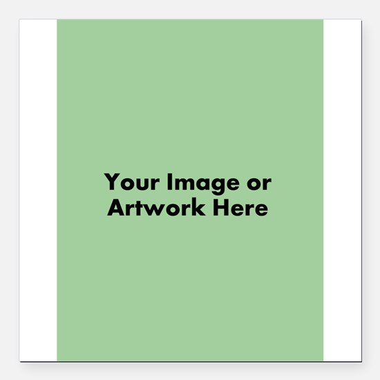 "Your Image or Artwork Square Car Magnet 3"" x 3"""