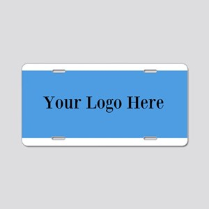 Your Logo Here (Wide) Aluminum License Plate