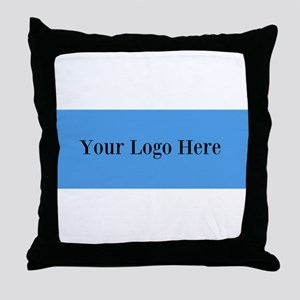 Your Logo Here (Wide) Throw Pillow
