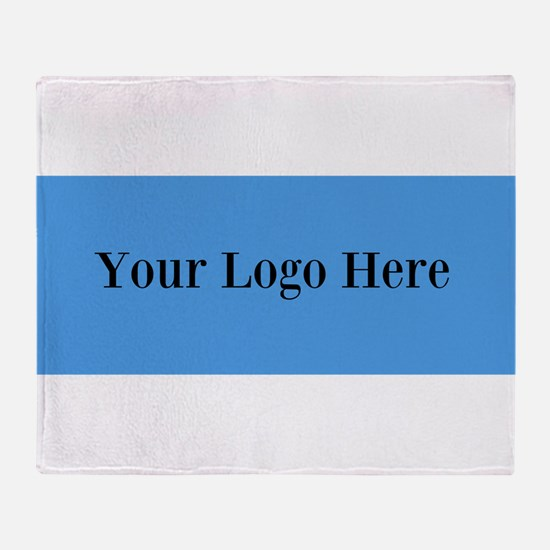 Your Logo Here (Wide) Throw Blanket