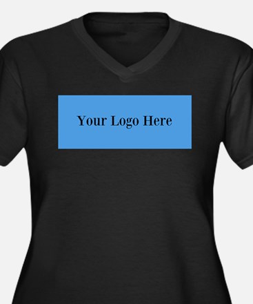 Your Logo Here (Wide) Plus Size T-Shirt
