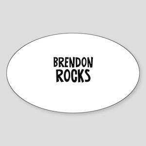Brendon Rocks Oval Sticker