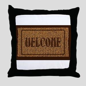 Welcome Coconut Doormat Throw Pillow