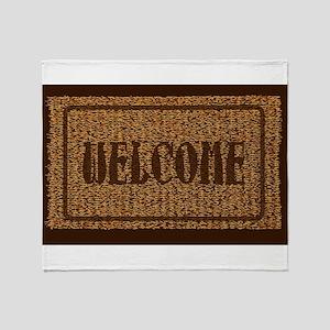 Welcome Coconut Doormat Throw Blanket