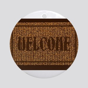 Welcome Coconut Doormat Round Ornament