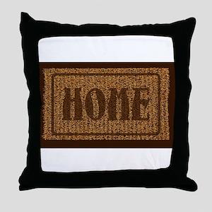 Home Coconut Doormat Throw Pillow