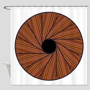 Down A Spiral Staircase Shower Curtain