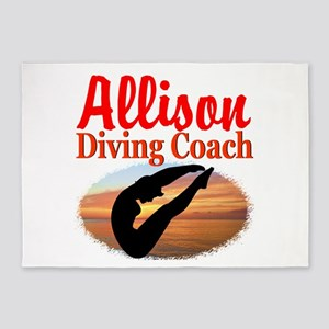 DIVING COACH 5'x7'Area Rug