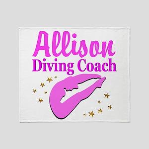DIVING COACH Throw Blanket
