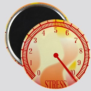 Fire Background Stress Meter Magnets