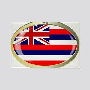 Hawaii State Flag Oval Button Magnets
