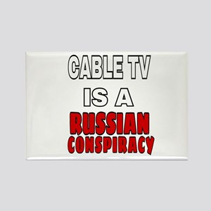 CABLE TV IS A RUSSIAN COMSPIRACY Magnets