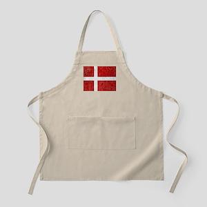 Flag of Denmark Grunge Apron