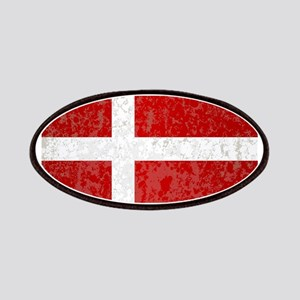 Flag of Denmark Grunge Patch