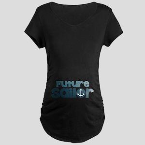 US Navy Future Sailor Maternity Dark T-Shirt