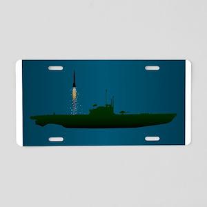 Missile Undersea Launch Aluminum License Plate