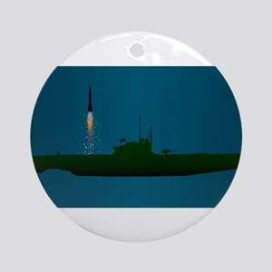 Missile Undersea Launch Round Ornament