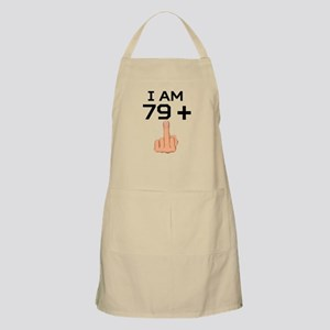 79 Plus Middle Finger 80th Birthday Apron