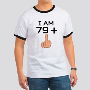 79 Plus Middle Finger 80th Birthday T-Shirt