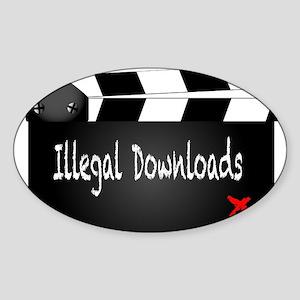 Illegal Downloads Clapperboard Sticker