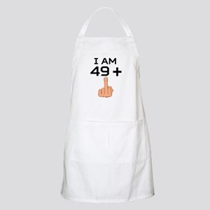 49 Plus Middle Finger 50th Birthday Apron