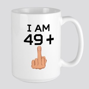 49 Plus Middle Finger 50th Birthday Mugs