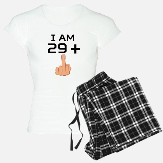 29 Plus Middle Finger 30th Birthday Pajamas