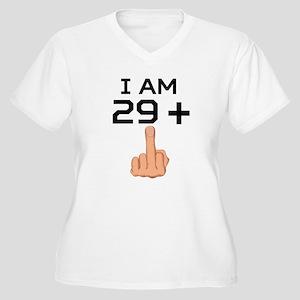 29 Plus Middle Finger 30th Birthday Plus Size T-Sh