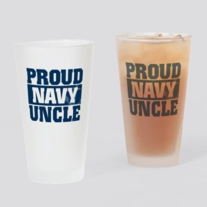 US Navy Proud Navy Uncle Drinking Glass
