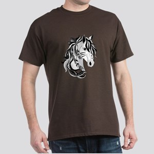 Beautiful Tribal Horse Dark T-Shirt