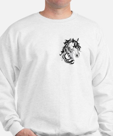Beautiful Tribal Horse Sweatshirt