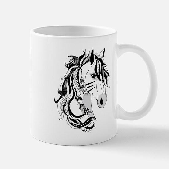 Beautiful Tribal Horse Mug
