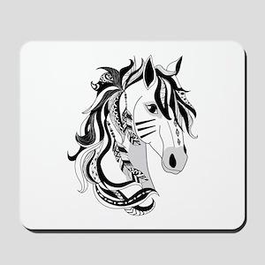 Beautiful Tribal Horse Mousepad