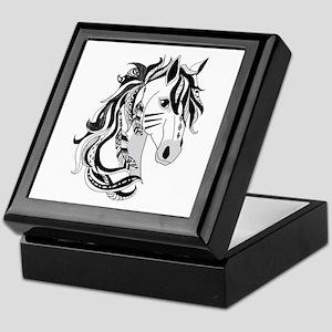 Beautiful Tribal Horse Keepsake Box