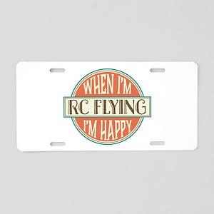 happy rc flyer Aluminum License Plate