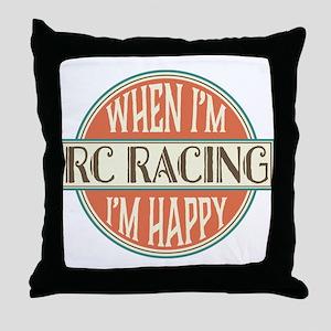 happy rc racer Throw Pillow