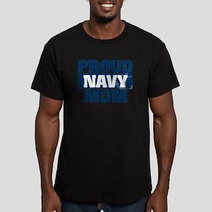 US Navy Proud Navy Mom Men's Fitted T-Shirt (dark)