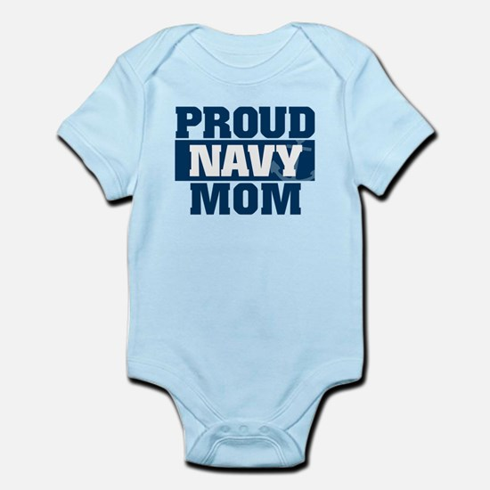 US Navy Proud Navy Mom Infant Bodysuit