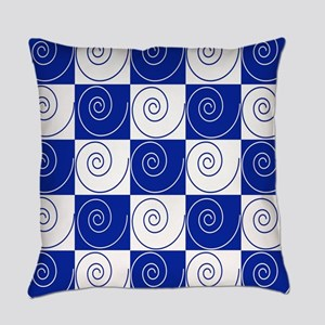 Blue Mouse Tail Twists Everyday Pillow