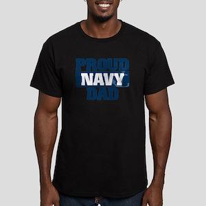 US Navy Proud Navy Dad Men's Fitted T-Shirt (dark)