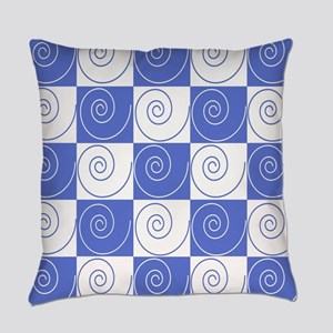 Sky Blue Mouse Tail Twists Everyday Pillow