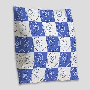 Sky Blue Mouse Tail Twists Burlap Throw Pillow