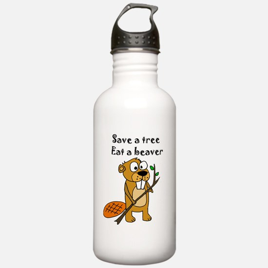 Cute Save the trees pine trees Water Bottle