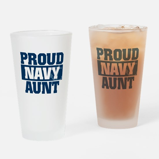 US Navy Proud Navy Aunt Drinking Glass