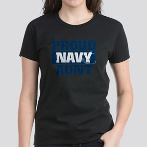 US Navy Proud Navy Aunt Women's Dark T-Shirt
