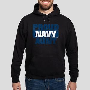 US Navy Proud Navy Aunt Hoodie (dark)